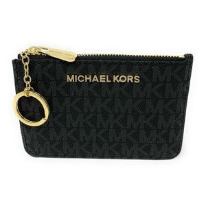 Michael Kors Jet Set Travel Small Coin Pouch Black